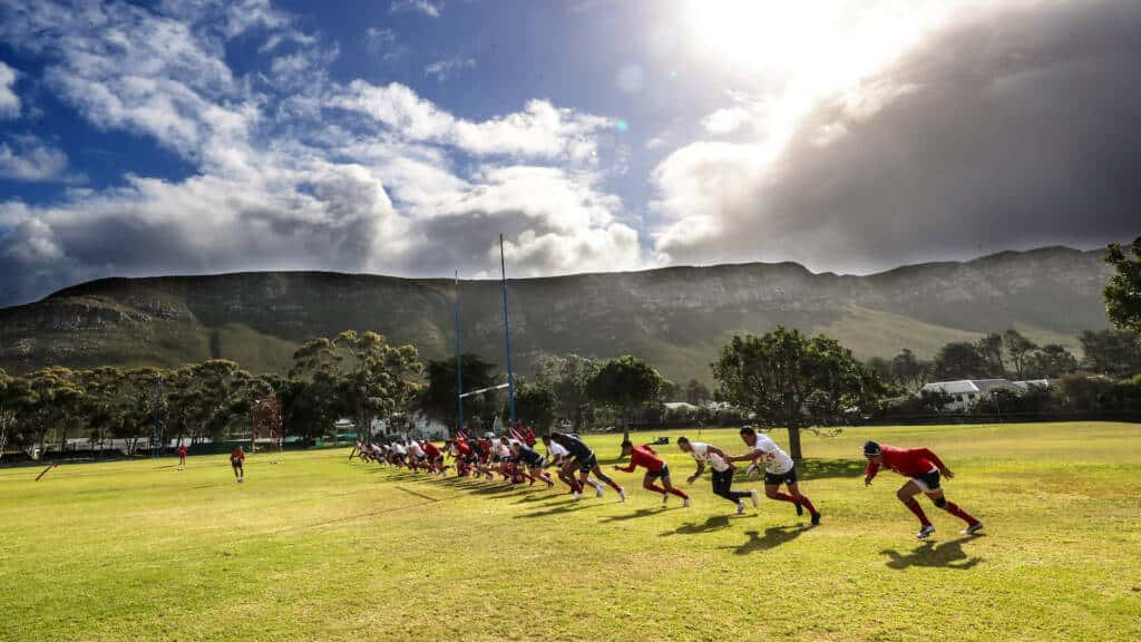 A view of training in Cape Town