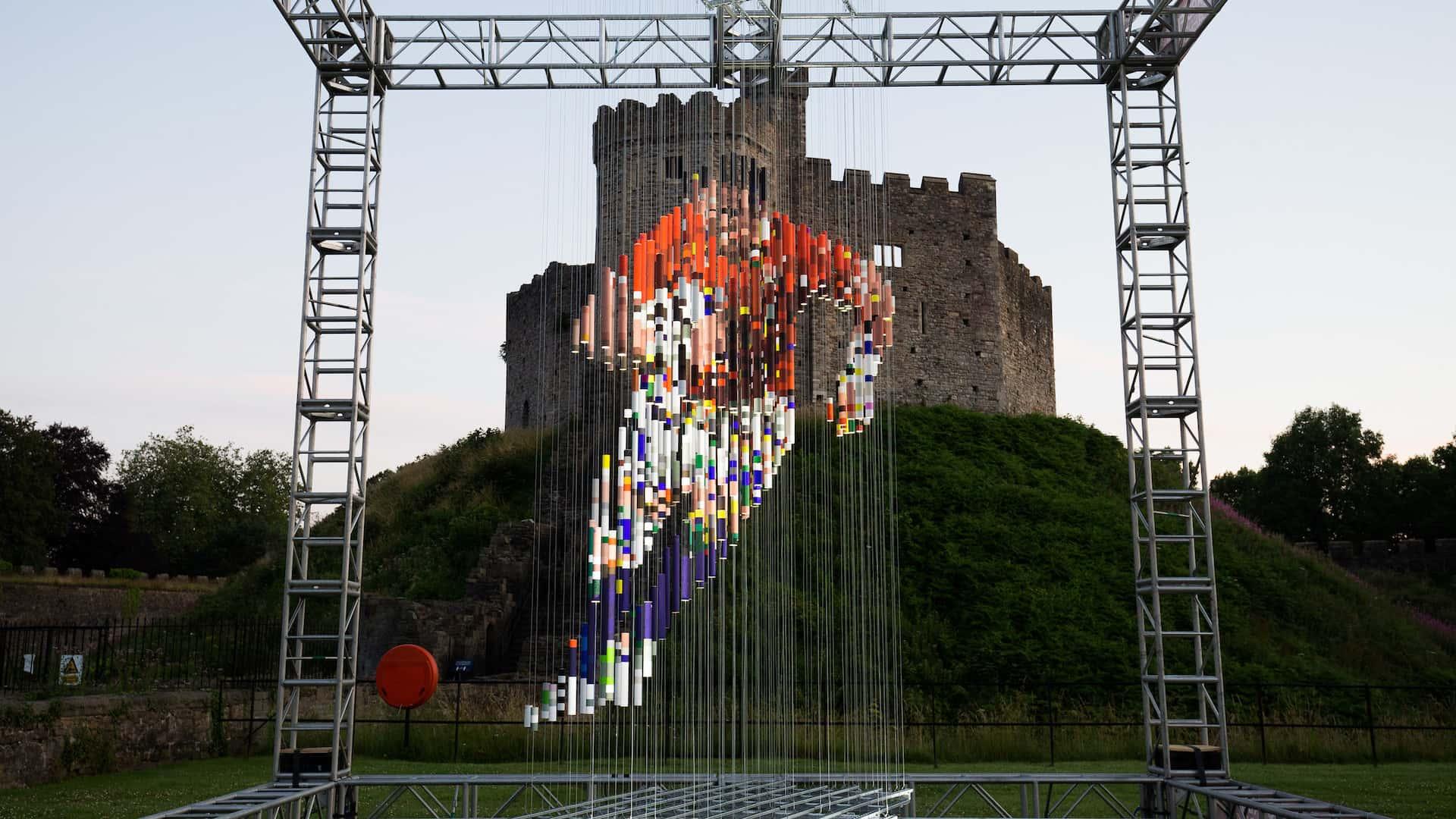 Lions Art Exhibit at Cardiff Castle