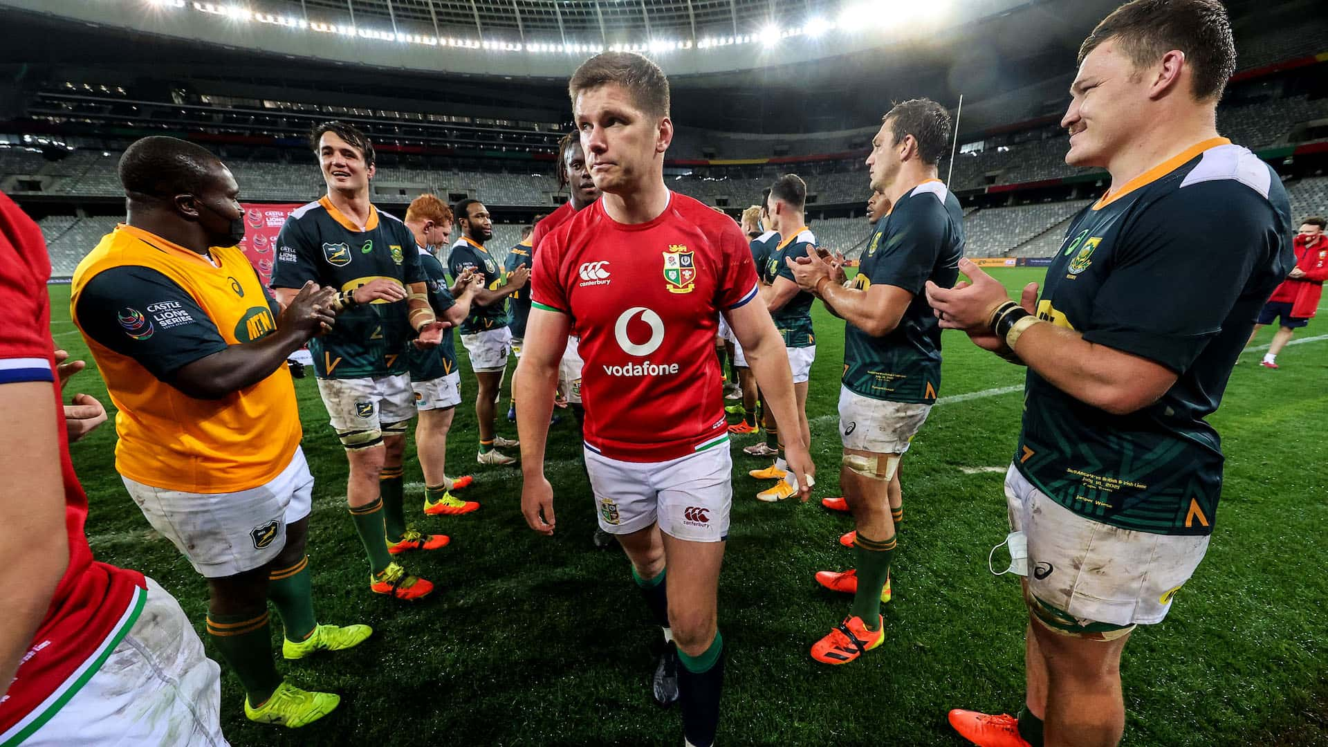 Owen Farrell dejected after the game