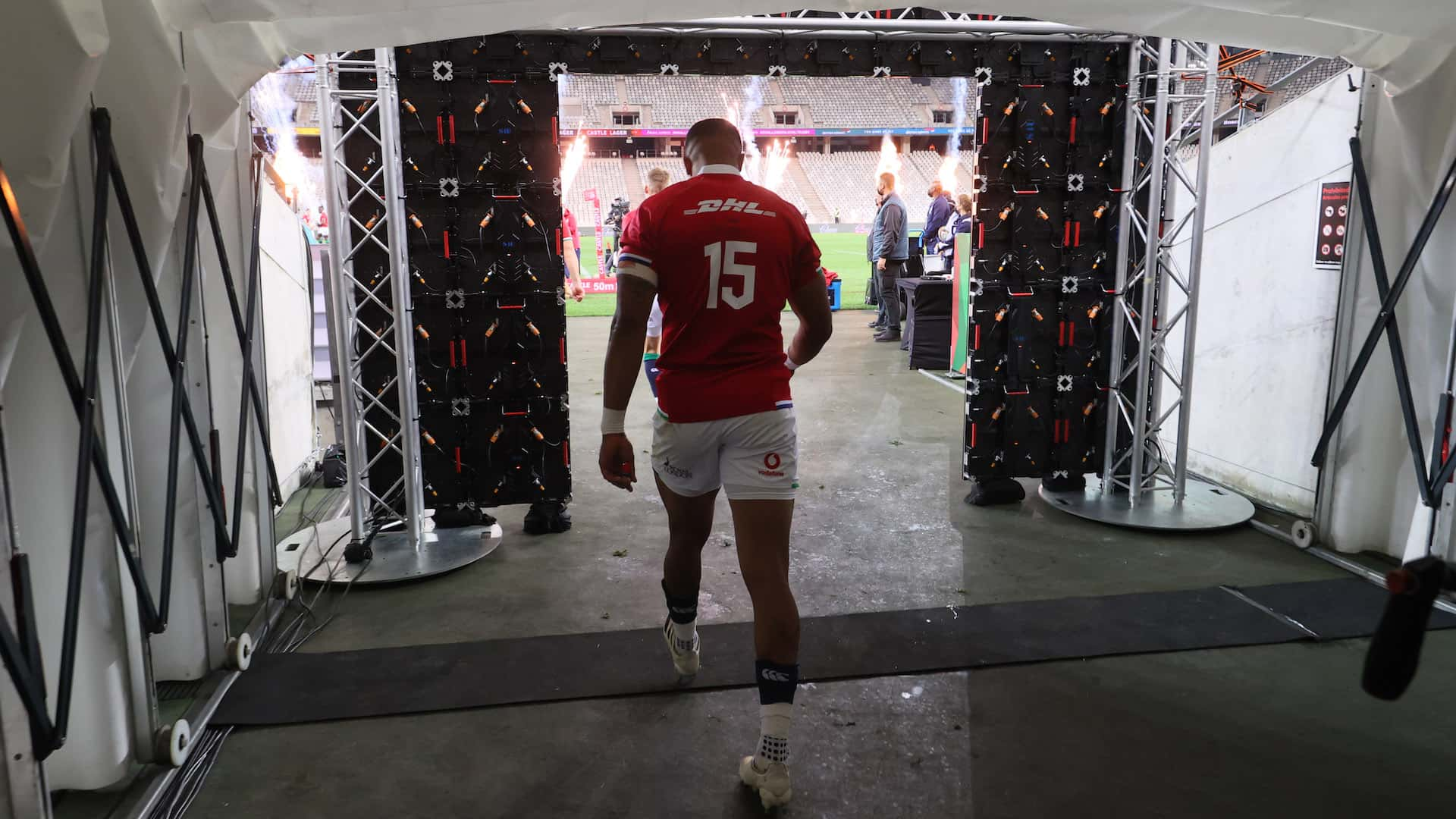 Anthony Watson takes to the field