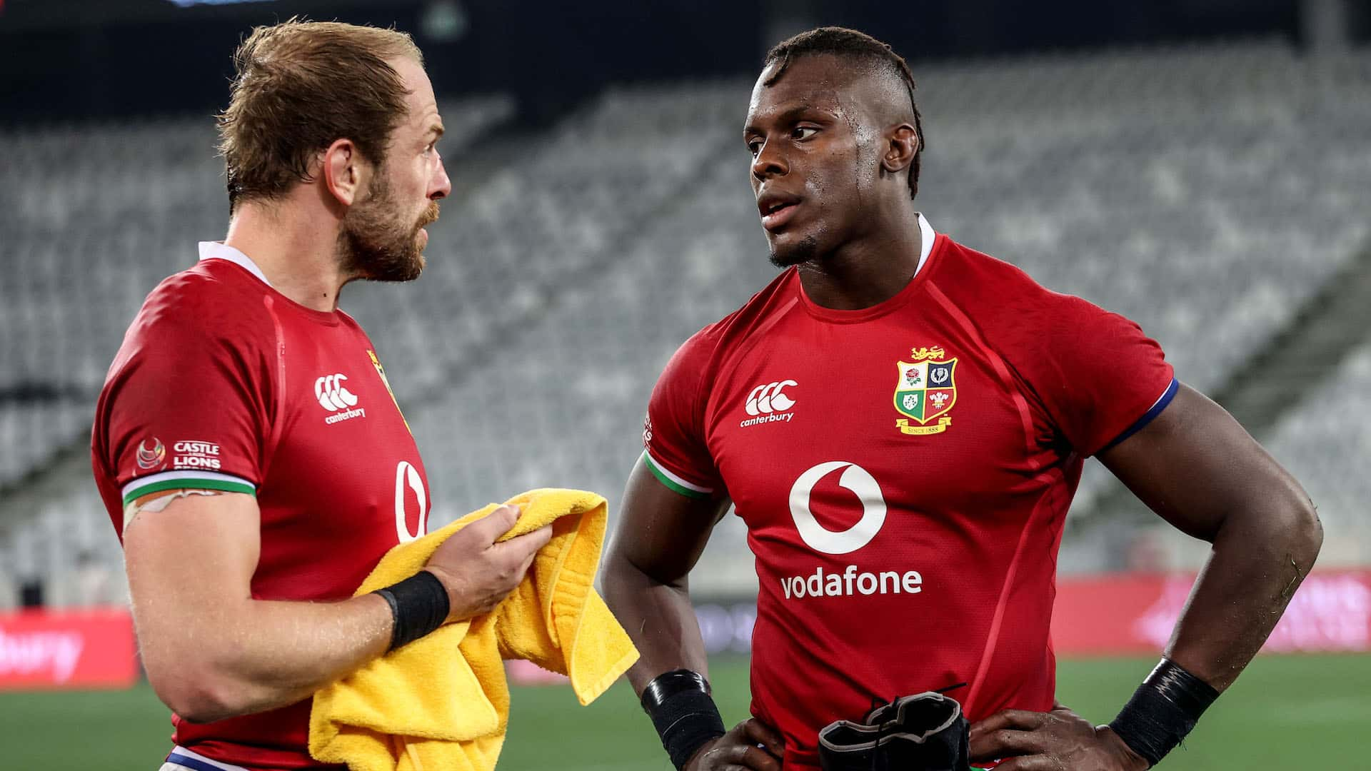 Alun Wyn Jones after the game with Maro Itoje