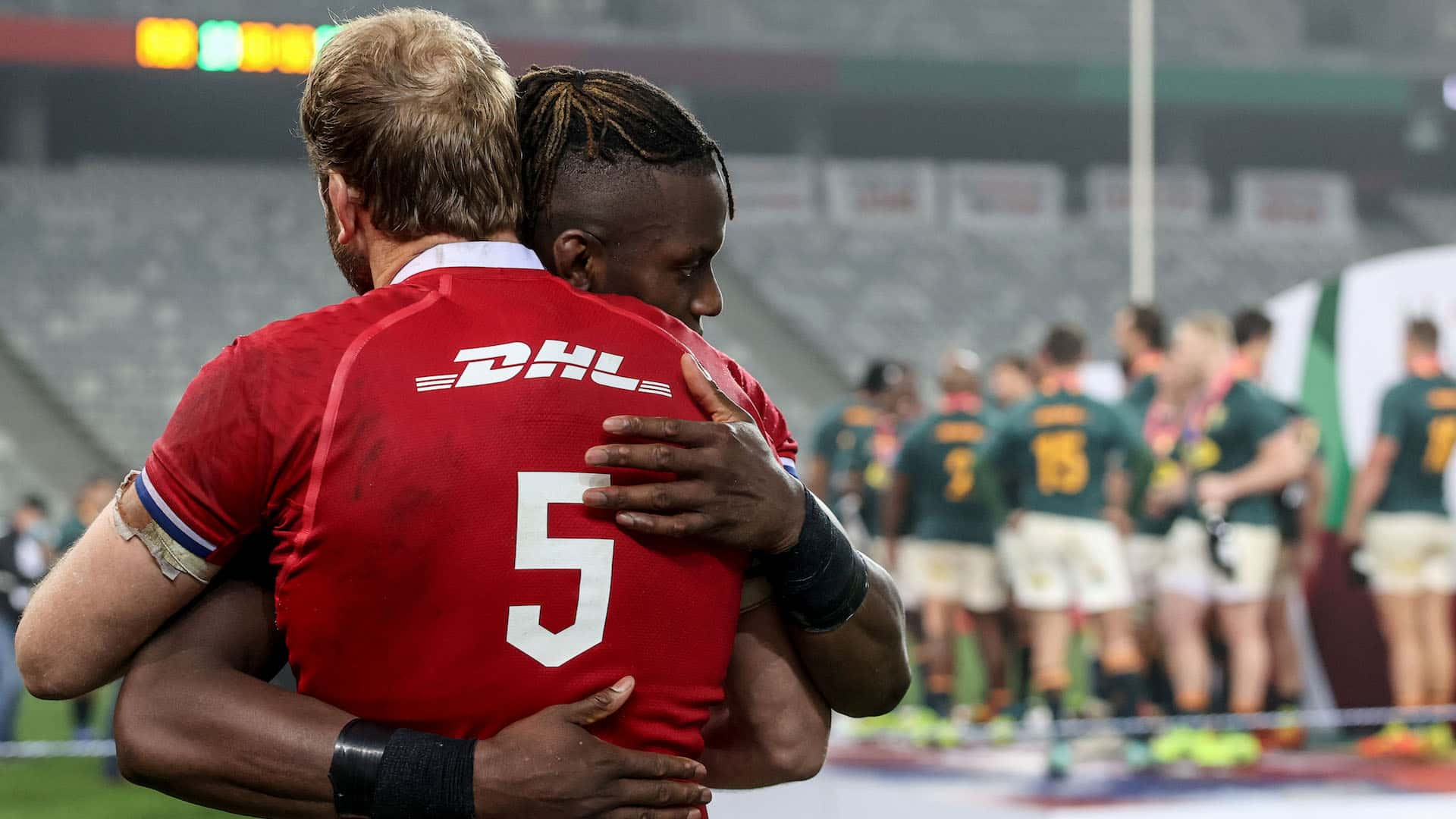 Alun Wyn Jones and Maro Itoje after the game